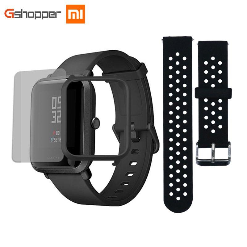 Original AMAZFIT Bip Youth Edition Smart Watch GPS GLONASS Bluetooth 4.0 Heart <font><b>Rate</b></font> Monitor IP68 Waterproof Android 4.4 IOS 8