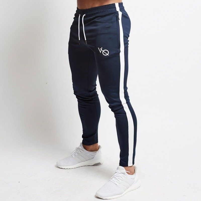 New Mens Gyms Fitness Sweatpants Male Drawers Cotton Trousers Man Jogger Workout Pencil Pant Men Casual Fashion Slim Brand Pants