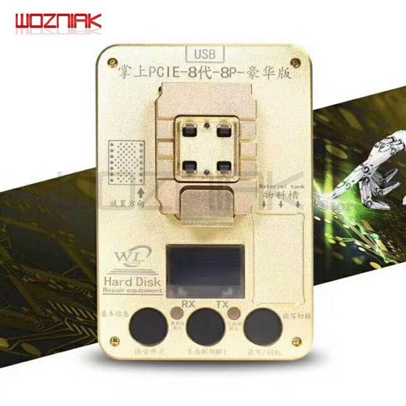 Wozniak WL PCIE NAND programmeur pour iPhone x 8g 8p 7P 7 6SP ios11 HDD numéro de série SN outil pour IPAD Pro programmeur