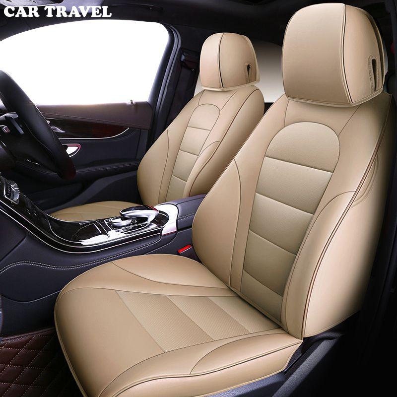 CAR TRAVEL Custom Genuine leather car seat cover for KIA K2K3K4K5 Kia Cerato Sportage Optima Maxima carnival auto accessories