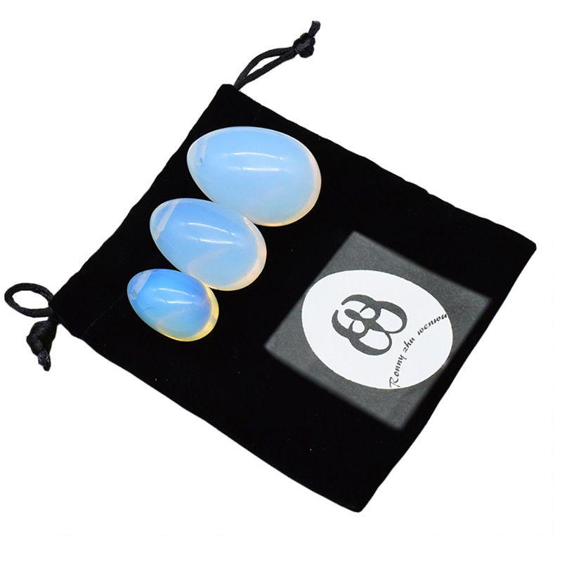 Yoni Egg Set Opalite Ben Wa Ball Kegel <font><b>Jade</b></font> Eggs for Women Kegel Exercises Tightening Vaginal Muscle Massage Ball Health Care