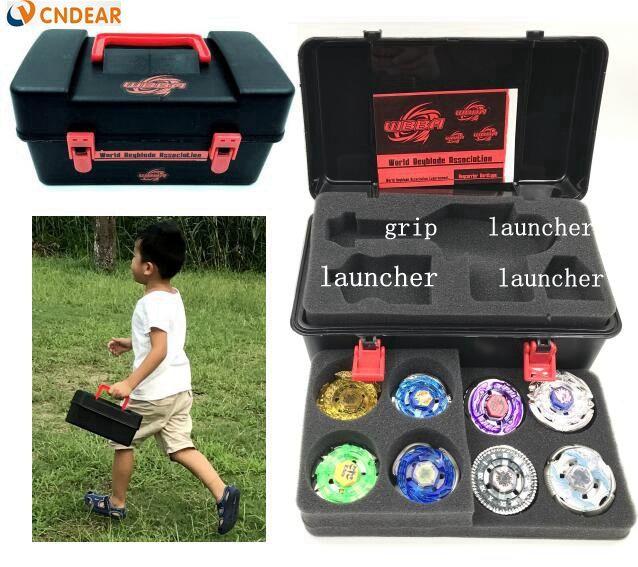 Набор Beyblade BB52 (более 20 Запасные части + 8 BeyBlades + 1 + 2 ручки пусковые + Beyblade коробка) как дети подарок на день рождения,