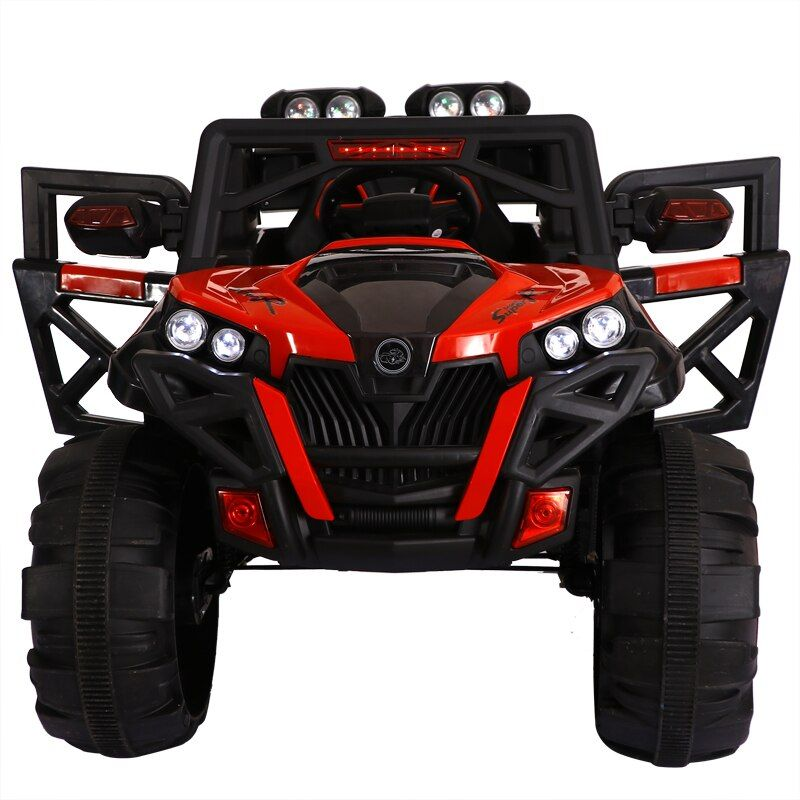 Super big Kids four-wheel drive electric car remote control toy shock absorption electric SUV can drive sit baby toy car