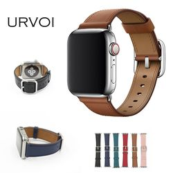 URVOI Classic Buckle Band for Apple Watch series 5 4 3 2 1 strap for iwatch calf leather with square buckle modern design GEN.2