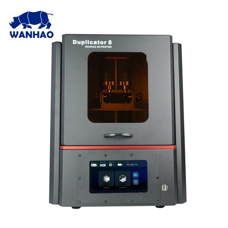 2019 neue Version WANHAO größten günstige DLP LCD SLA Schmuck Dental 3D Drucker D8 mit 500ml harz und freies verschiffen 1 jahr garantie