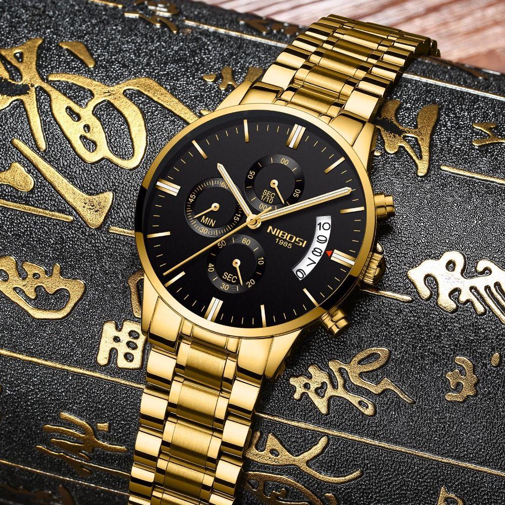 NIBOSI Man Watch 2018 Relogio Masculino Men Watch Luxury Famous Top Brand Sport Watch Military Quartz Men Wristwatch Clock Saat