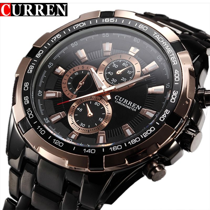 Fashion Curren Luxury Brand Man quartz full stainless steel Watch Casual Military Sport Men Dress <font><b>Wristwatch</b></font> Gentleman 2017 New