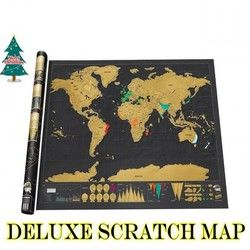 NEW HOT Deluxe Scratch Map 1Piece black mapa creative scratch off map travel scratch world map mapa mundi rascar 82.5 x 59.5cm