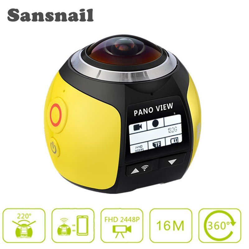 Sansnail 4K WiFi Sports Action Camera Mini Full HD 1080P Cam Video Outdoor Helmet Camara Go 40M Diving Waterproof Pro DVR DV