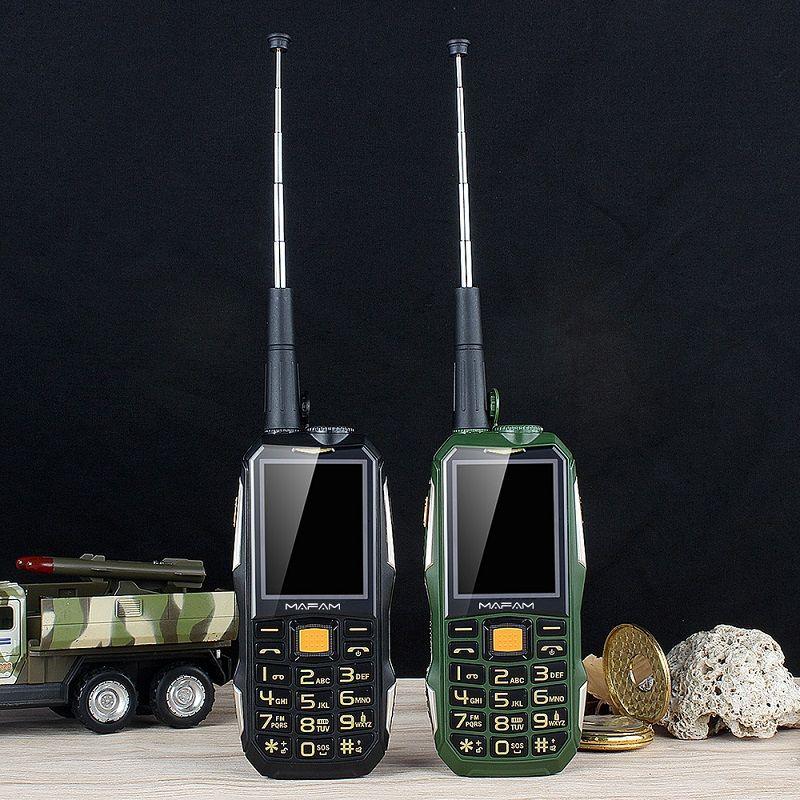 Déverrouiller Mafam M2 + Robuste Antichoc Extérieure téléphone portable avec UHF Matériel Interphone Talkie Walkie clip de ceinture Powerbank Facebook