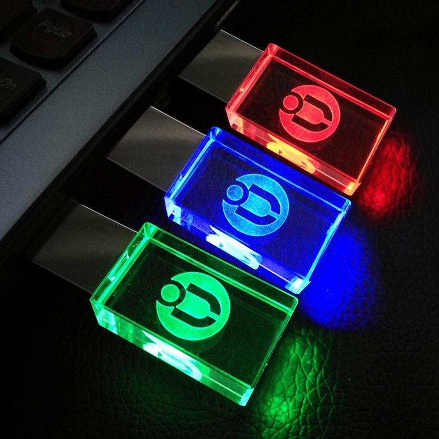 Customerized logo Cristal Transparent USB Flash Drive 8 GB 16 GB 32 GB 64 GB USB Lecteur de Mémoire D'affaires style USB Bâton/Lecteur De Voiture