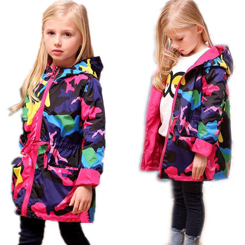 куртка весна осень плащ для девочек девочки одежду девочки куртки, пальто 2017 детей дети весной пиджак teengers долго и ветровка ребенок худой во...