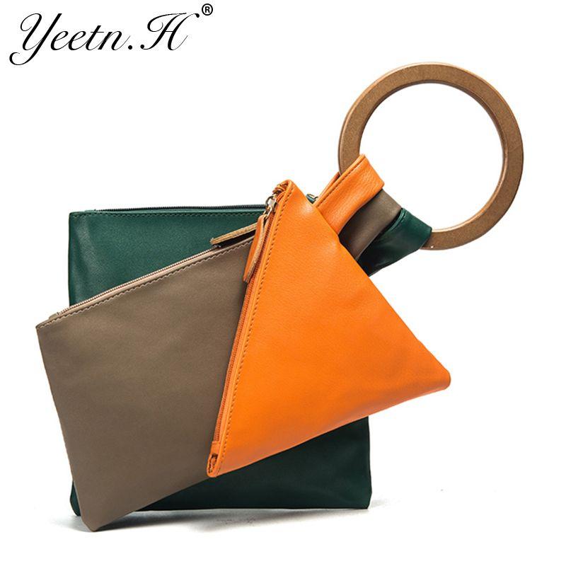 Yeetn. h новое прибытие женщины сумку модные сумки creative топ-ручка сумка красочные искусственная кожа повседневная сумка для женщины m7435
