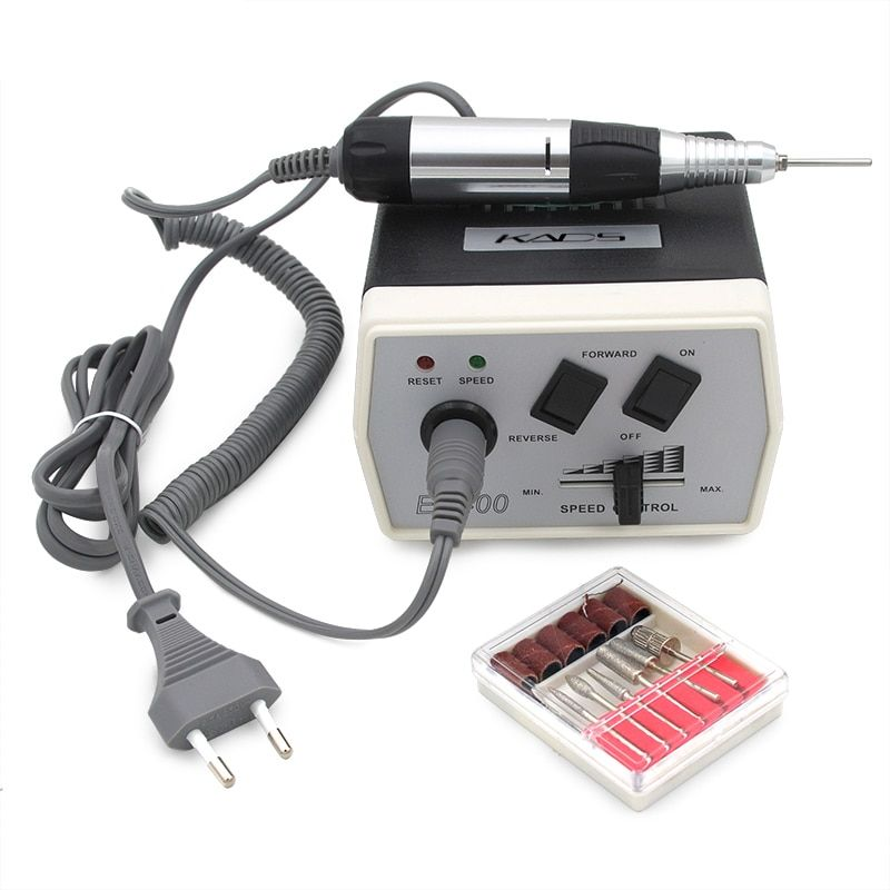 30000RPM Black Nail Equipment Nail Art Drill Manicure Tools Pedicure Acrylics Electric Nail art Drill Pen Machine Set