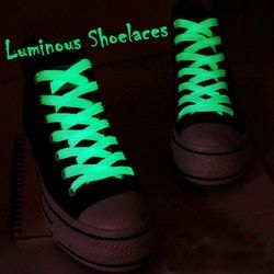 1pair Sport Luminous Shoelace Glow In The Dark Night Color Fluorescent Shoelace Athletic Sport Flat Shoe Laces Hot Selling
