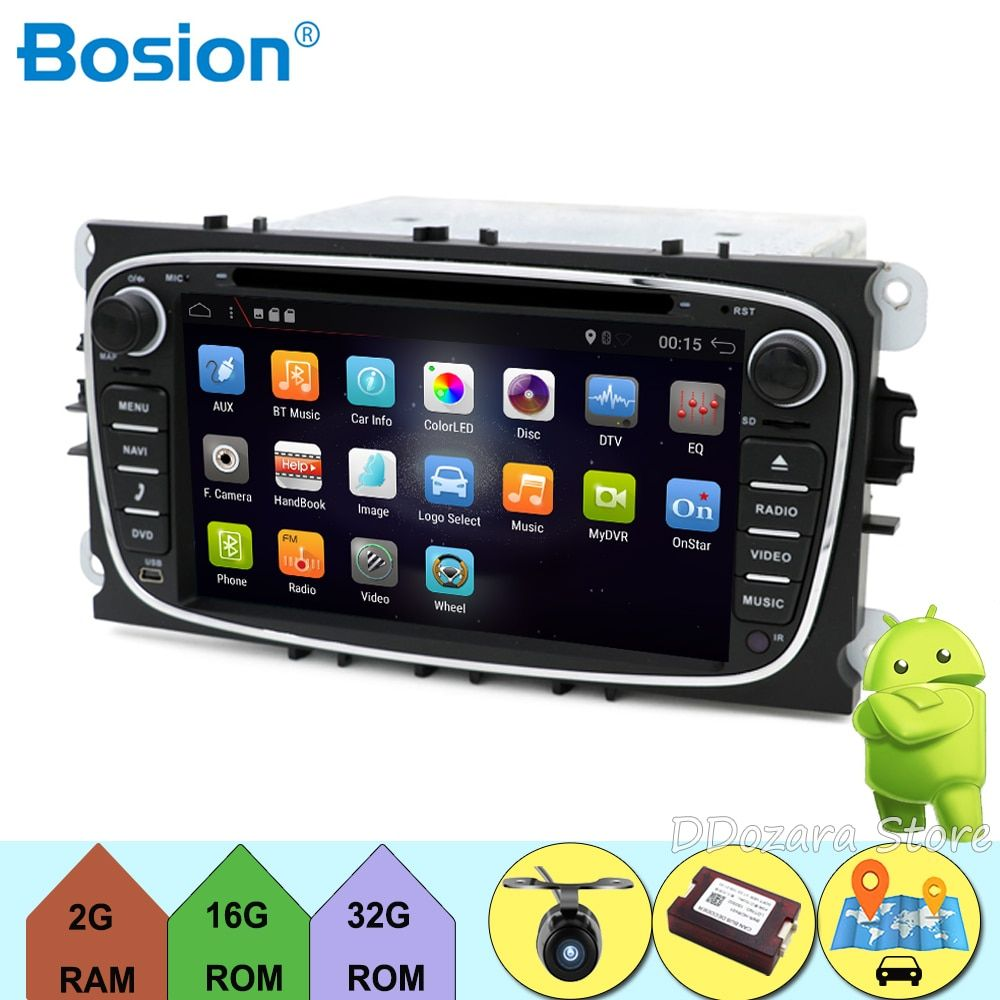 8 Core In Dash Android 9.0 Für ford Für fokus 2 mondeo 2Din Auto radio GPS Navi DVD Player Stereo Video BT Auto PC CD WiFi parkplatz
