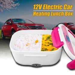 1.05L 12 V Mobil Portabel Pemanas Listrik Makan Siang Kotak Nasi Cooker Multi Fungsional Plug Makanan Wadah Bento Hangat Seal peralatan Makan