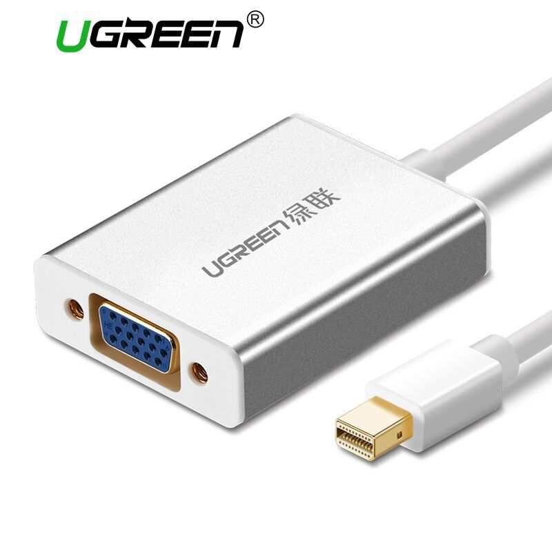 Ugreen Thunderbolt 1/2 Mini DisplayPort DP To VGA Adapter Cable Mini DP Male to VGA Female Converter for Apple MacBook Air Pro