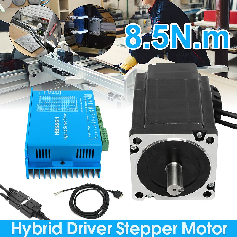 1 Set 6A HSS86 Hybrid Schritt-servo Fahrer CNC Controller Kit Nema34 Geschlossen Schleife 8.5N.m Servo motor Schrittmotor neue Ankunft