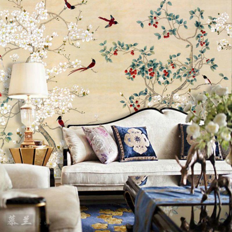 3D wallpaper für wand 3d wandbilder wallpaper für Großen sofa im wohnzimmer schlafzimmer TV hintergrund tapete Sorgfältige Klassische vogel