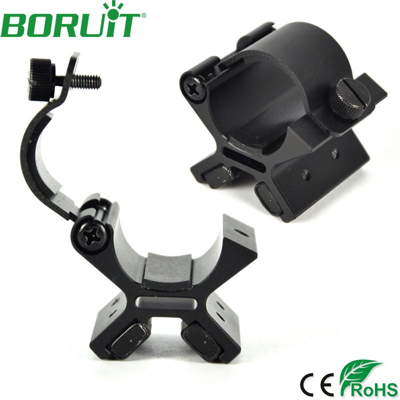 BORUIT Strong Dual Magnetic Flashlight Gun Mount Holder Lighting For Torch Flashlight <font><b>Hunting</b></font> X Tactical Mount with Original Box