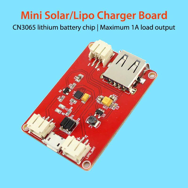 Elecrow Mini chargeur de Lipo solaire CN3065 batterie au Lithium puce de Charge bricolage Kit d'application en plein air Module de carte de Charge