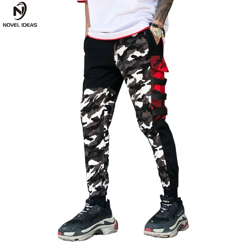 Novel ideas Camouflage Pants Men New Fashion Men's Multi Pockets Cargo Pants Mens Loose Sportwear Casual Pants Brand Clothing