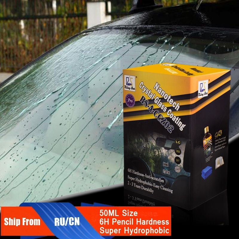 Rising Star RS-A-CCZ02 Rain & Water Repellent Nano Hydrophobic Liquid Glass Coating for Window 50ml Kit for Professionals