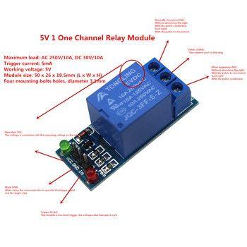 5 V 1 Un Canal Module de Relais Bas Niveau pour Contrôle D'appareils Ménagers SMC pour arduino DIY Kit