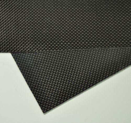 100mm X 250mm X 0.3mm 100% plaque De Fiber De carbone feuille de panneau 3 K armure toile Brillant
