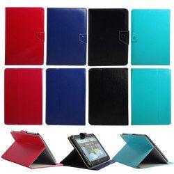 Universal Leather Case untuk 9.7 ''10'' 10.1 ''Inch Tablet PC untuk iPad 2/3/4 udara Samsung Lenovo TAB Huawei Berdiri Folio Case