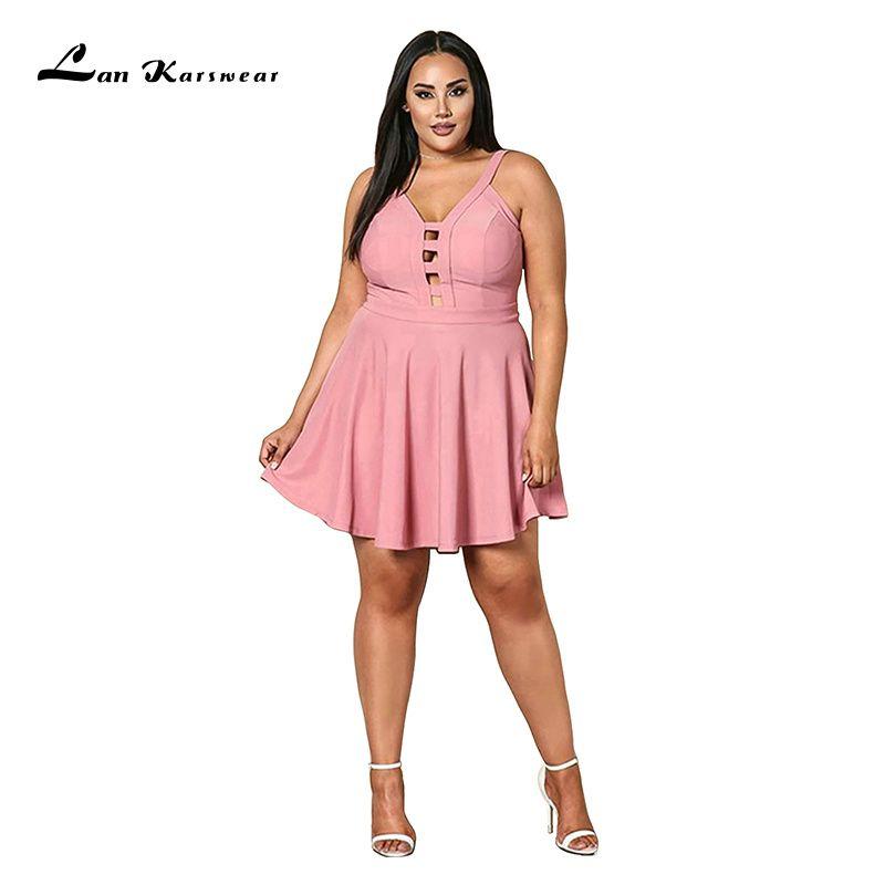 2019 fête nuit courte Mini robe grande taille femmes été plage Bandage Sundress bureau dames vêtements rose noir élégant Sexy