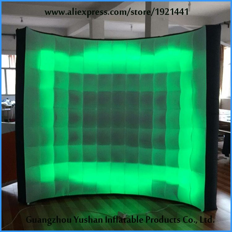 custom small inflatable wall backdrop with LED strip on bottom