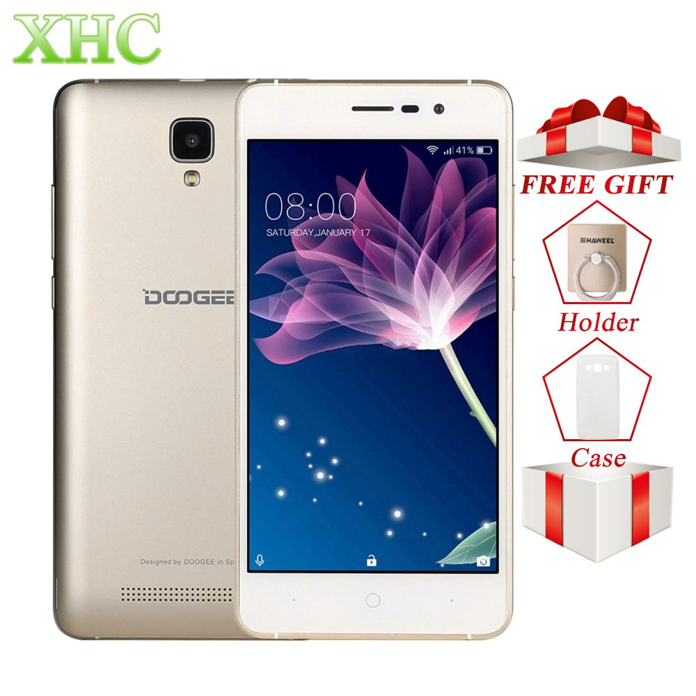 DOOGEE X10 ROM 8GB 5.0 inch 3360mAh Smartphone Android 6.0 MTK6570 Dual Core <font><b>1.3GHz</b></font> WCDMA 3G WiFi OTA GPS Dual SIM Mobile Phone