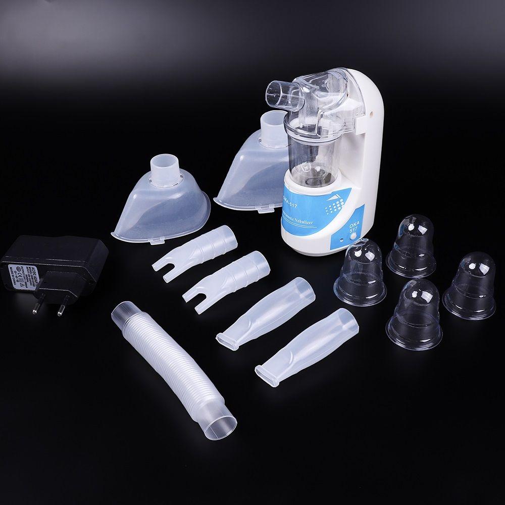 Accueil Ultrasons Nébuliseur Compact et Portable Inhalateurs Nébuliseur Inhalateur Pour L'asthme de Décharge de Brouillard Mini Automizer US Plug UE