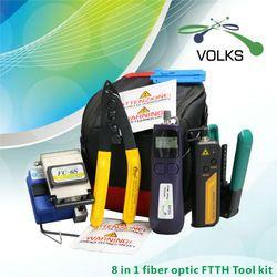 8 En 1 Fiber Optique FTTH Outil Kit FC-6S Fendoir De Fiber Optique Power Meter 12 km Localisateur Visuel de défauts