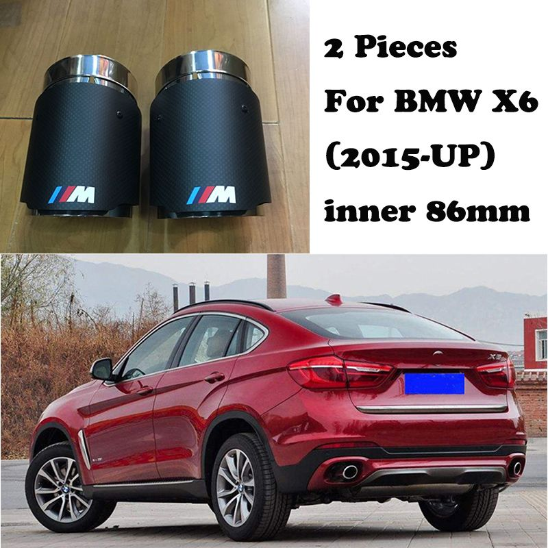 M performance Carbon Fiber Akrapovic Tips Car Exhaust Pipe For BMW E90 E92 F30 X5 E70 X6 E71 X1 F48 Auto Accessories