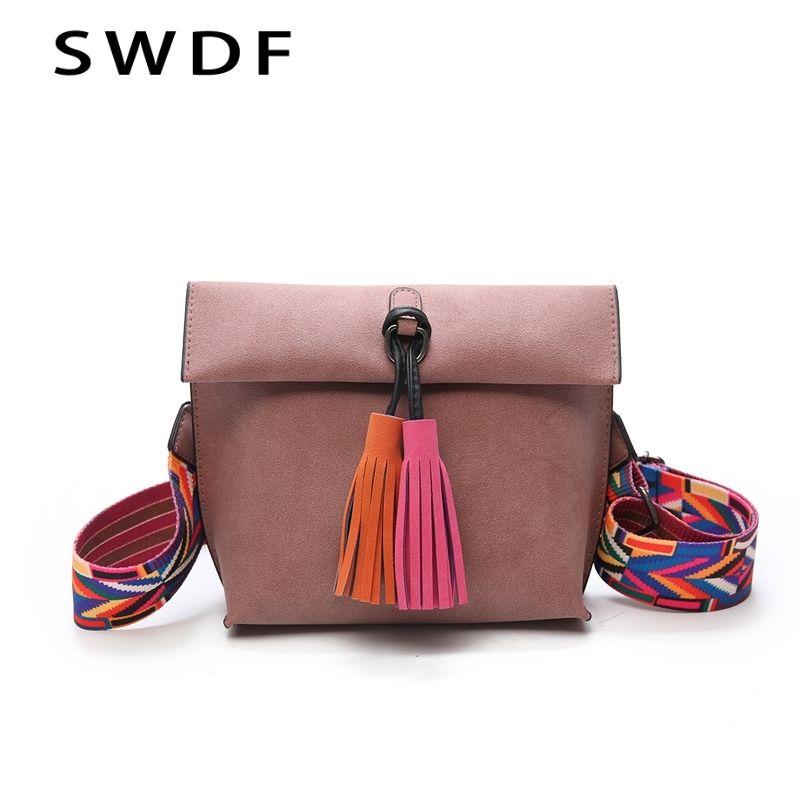 2019 New Women Messenger Bag Tassel Crossbody Bags For Girls Shoulder Bags Female Designer Handbags Bolsa Feminina Bolsos Muje