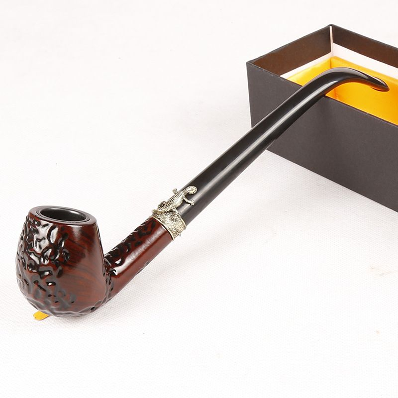 Acrylique bois grain couleur conduit étroit, 23.5 CM en métal long tuyau, Pipes à tabac, Briquets & Accessoires Fumeurs, artisanat cadeau