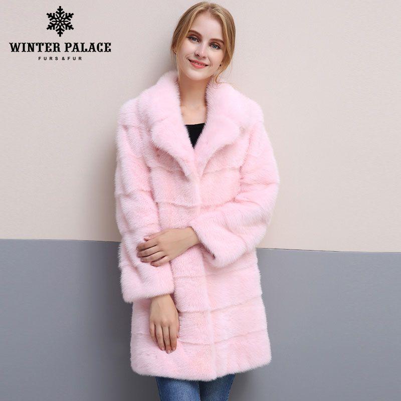2018 winter Neue stil pelzmantel natürliche mlnk stehen Kragen gute qualität mlnk pelzmantel 90 cm lange mäntel von pelz Mode Schlanke Pelz