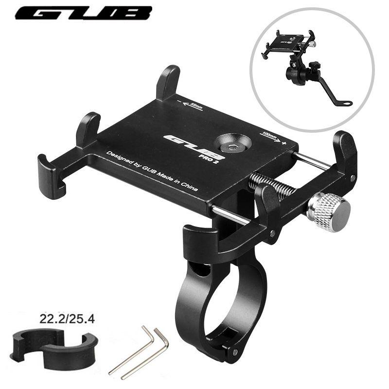 GUB Aluminum Universal Bicycle Phone Mount Holder MTB Mountain Bike Motorcycle Handlebar Clip Stand for 3.5