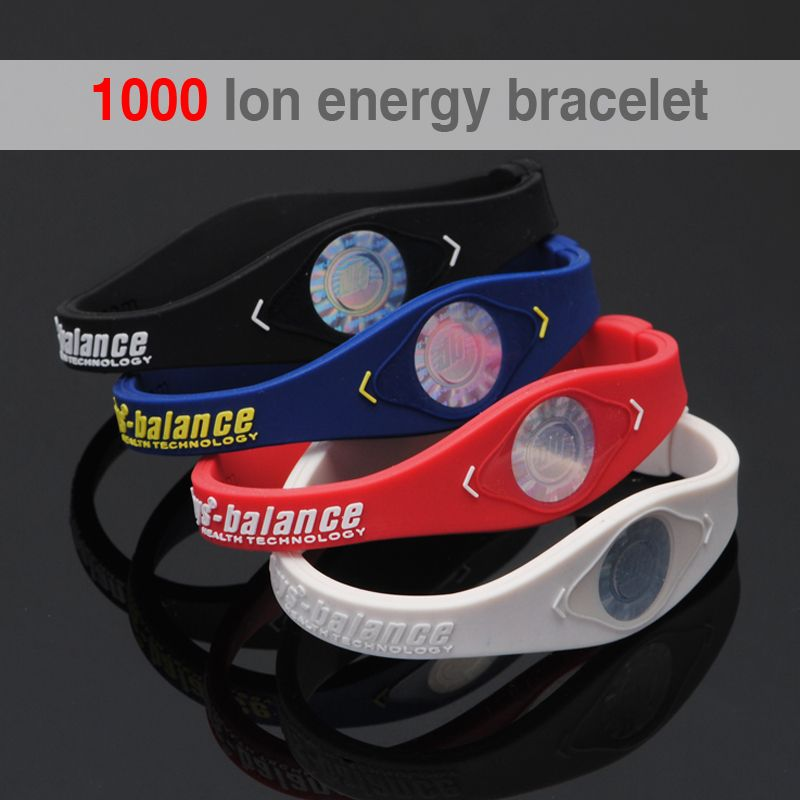 1000 ion Bio Elements Energy Bracelet Silicone Bracelet with Hologram Bracelets Power Bands Balance Energy Wristband With Retail