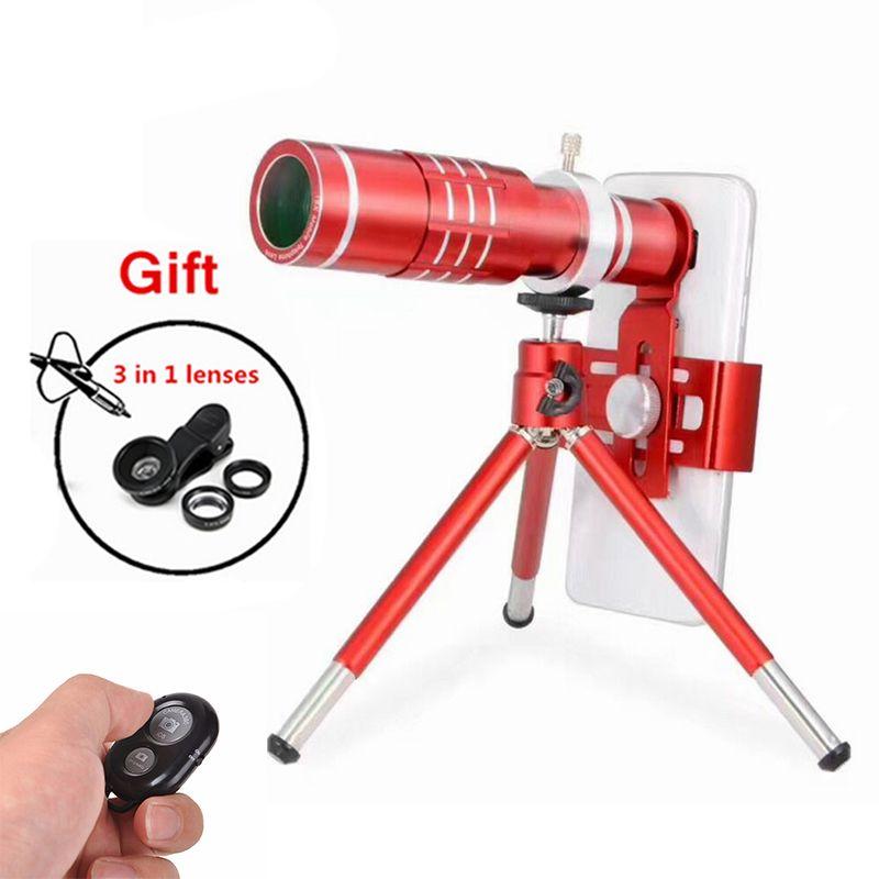 Universal 18X Telephoto Zoom Telescope Lentes For Samsung galaxy S7 S8 edge Note6 Cell Phone Lenses Kit Fisheye Wide Macro lens