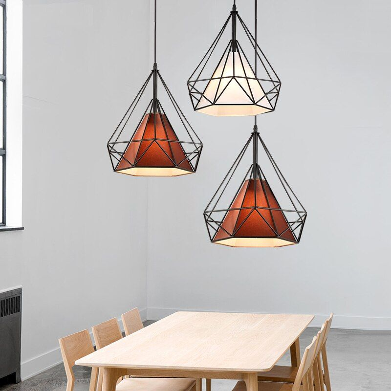 Nordic LED Cafe Hanging lights Novelty living room Fixtures restaurant bar Lighting Modern iron Industrial retro Pendant Lights