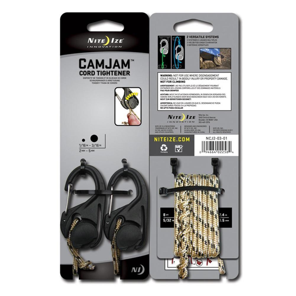 2 pièces Camping tente cordon tendeur léger en plastique attache crochet avec mousqueton Clip et cordon corde pour extérieur tentes accessoires
