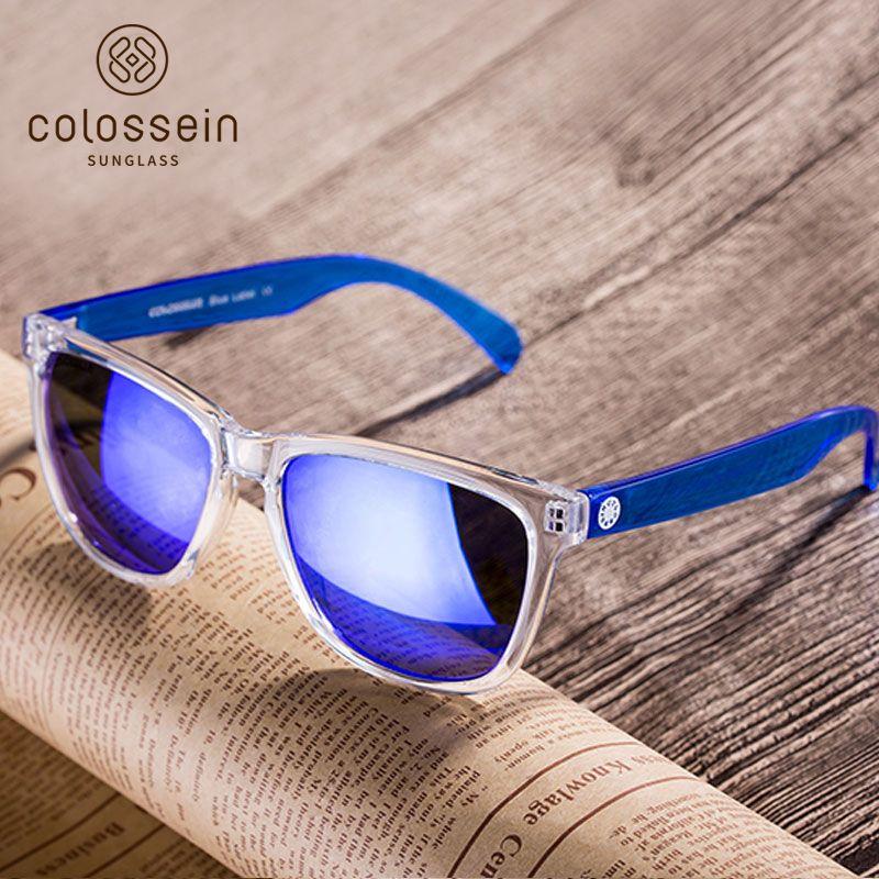 COLOSSEIN lunettes de Soleil Femmes Marque Designers 2019 D'été Style Frais Coloré Lentille En Plastique Cadre Lunettes Vacances Nécessaire Lunettes