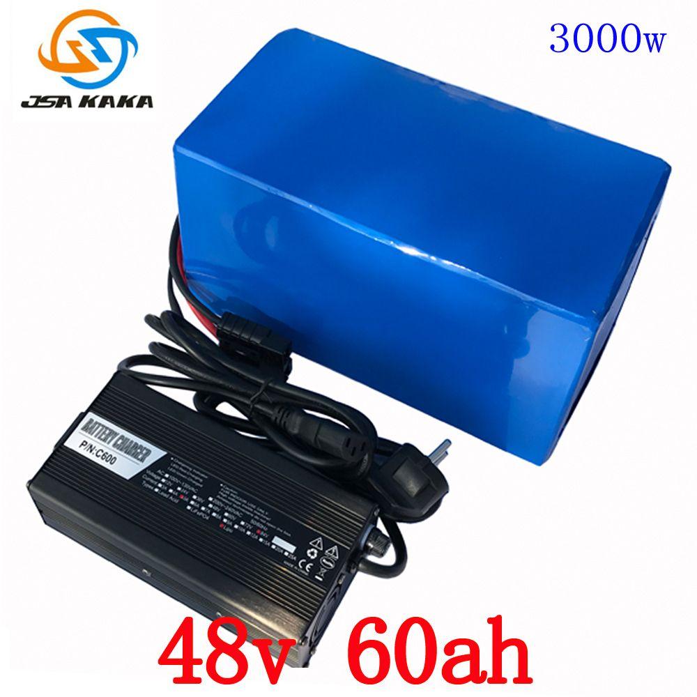 48 v 2000 watt 3000 watt batterie 48 v 60AH lithium-akku 48 v 60AH elektrische fahrrad batterie mit 70A BMS + 54,6 v 5A Ladegerät duty freies