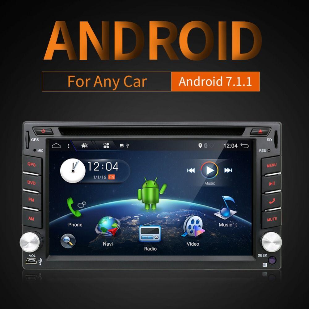 2din android 7.1 Car DVD GPS Navigation Car Stereo Radio 2 din Car GPS 3G Wifi Bluetooth USB/SD Universal Player Mirror Head RDS