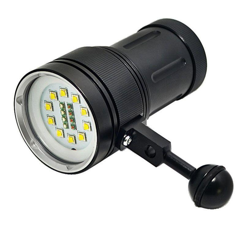 Diving Light Underwater 100m 10X XML2+4xRed+4xBlue LED Photography Video Dive Flashlight Lamp