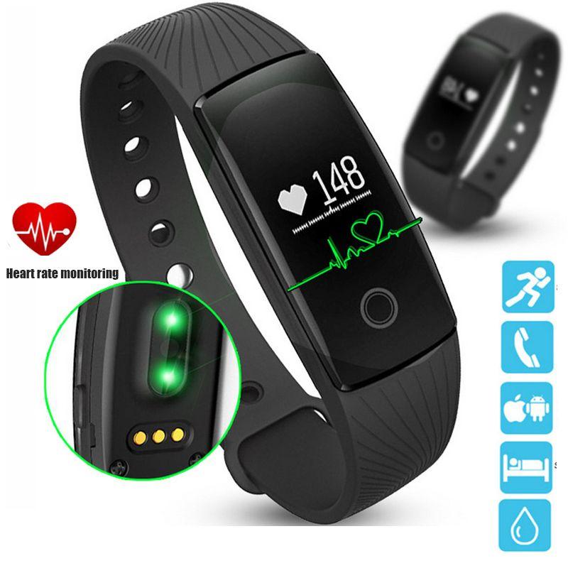 PK ID107 fréquence cardiaque Bracelet intelligent montre moniteur de fréquence cardiaque podomètre bande intelligente sans fil Fitness Tracker Bracelet